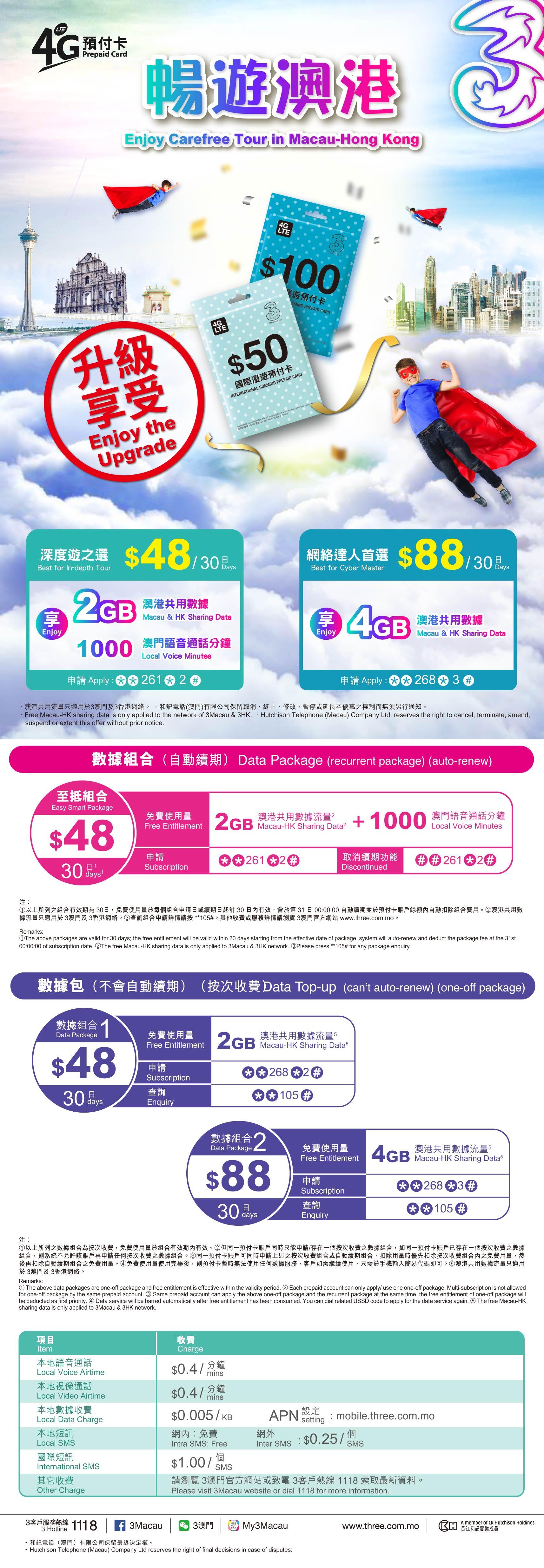 Threecommo 3g Macau Voucher 3 1gb More Details